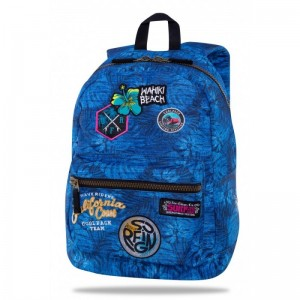 Coolpack Mochila Cross Parches Surfing Blue
