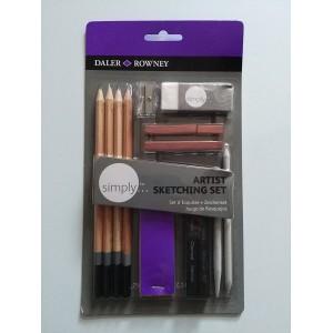 Simply Lápices Esbozos Simply Pencil Art Set