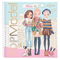 TOPModel Cuaderno con calcomanías Dress me up