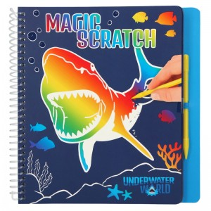 Depesche Dino World Magic-Scratch Book UNDERWATER