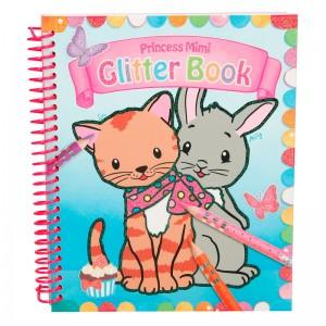 Princess Mimi Cuaderno para colorear, purpurina