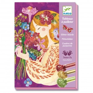 Djeco Cuadros de purpurina El aroma de las flores