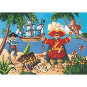 Puzle - El Pirata y su Tesoro - 36 Piezas