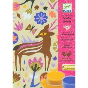 Djeco Arte al número Arenas y purpurinas Maravillas de los bosques