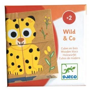 Djeco Wild & Co Cubos de madera