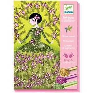 Djeco Cuadros de purpurina Vestidos de purpurina