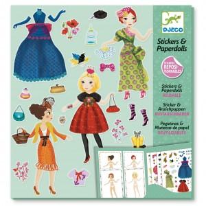 Pegatinas & Muñecas de papel - Ultra moda