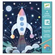 Djeco - Láminas para raspar - Espacio exterior