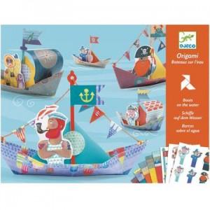 Djeco - Origami - Barcos sobre el agua