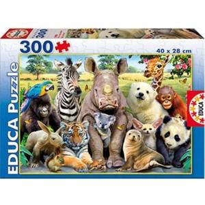 Puzle Educa 300 Piezas Foto de Clase Animales