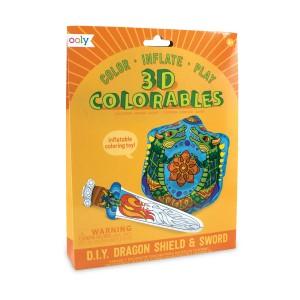 Ooly 3D coloreables - D.I.Y. Dragon shield & sword