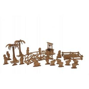Wood Models 22 Figuras Belén
