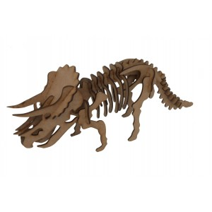 Wood Models Triceratops